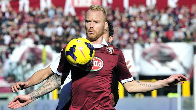 Torino midfielder Alexander Farnerud, of Sweden, controls the ball during a Serie A soccer match between Torino and Bologna at the Olympic stadium, in Turin, Italy, Sunday, Feb. 9, 2014