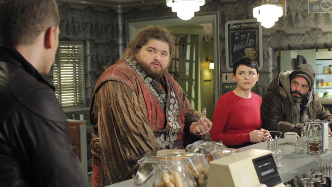 """Once Upon a Time"" -- ""Tiny"" JOSH DALLAS, JORGE GARCIA, GINNIFER GOODWIN, LEE ARENBERG"