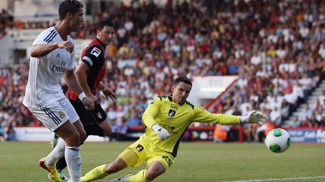 Liga - Ronaldo scores two as Real hit Bournemouth for six