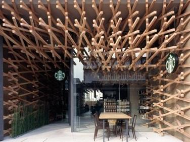 World's most peaceful Starbucks, by Kengo Kuma