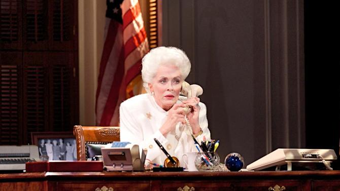 """This theater image released by The Hartman Group shows Holland Taylor as former Texas Gov. Ann Richards during a performance of """"Ann.""""   (AP Photo/The Hartman Group)"""