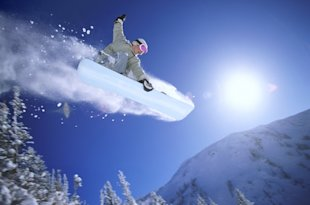 person snowboarding