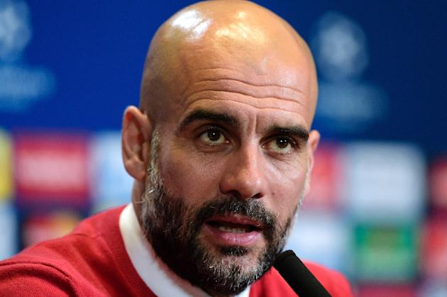 In Manchester City's Aguero, De Bruyne, Sterling and David Silva, Guardiola (pictured) will possesses the nimbleness of thought and foot in attack upon which he has built success with Barcelona an