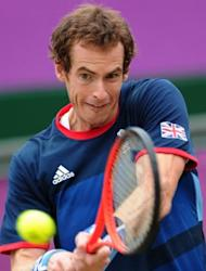Great Britain's Andy Murray plays against Spain's Nicolas Almagro during their London 2012 Olympic men's singles quarter-final match at Wimbledon, on August 2. Home hope Murray on Friday faces Novak Djokovic with a place in the final at stake