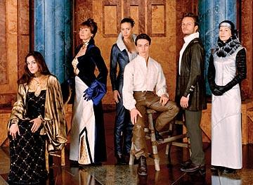 Left to Right: Daniela Amavia as Alia, Susan Sarandon as Wensicia, Jessica Brooks as Ghanima, James McAvoy as Leto, Alec Newman as Paul and Alice Krige as Lady Jessica Sci-Fi Network's Children of Dune