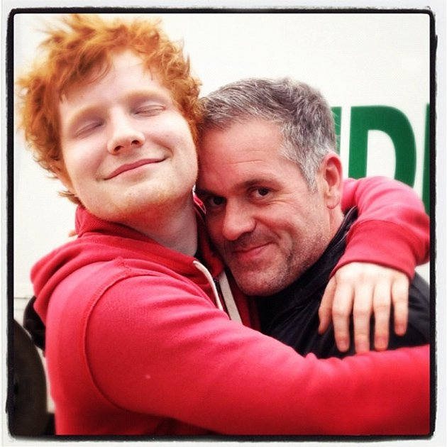 Chris Moyles with Ed Sheeran