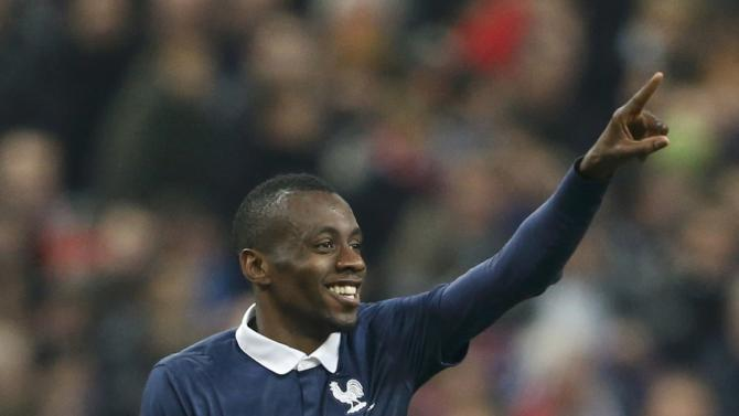 France's Matuidi celebrates after scoring againts the Netherlands during their international friendly soccer match at the Stade de France in Saint-Denis