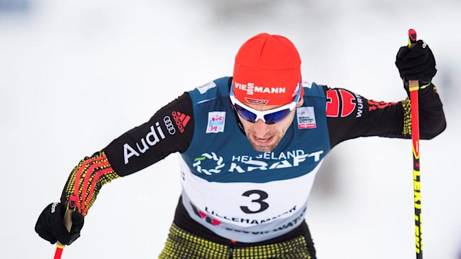 Bjorn Kircheisen of Germany competes in the World Cup Nordic Combined 10 km Cross Country in Lillehammer