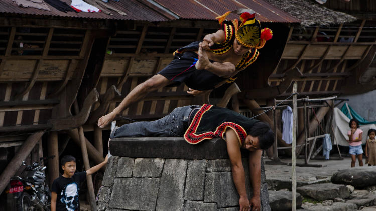 Stone Jumping In North Sumatra