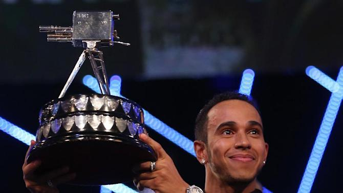 Lewis Hamilton, winner of Sports Personality of the Year 2014.