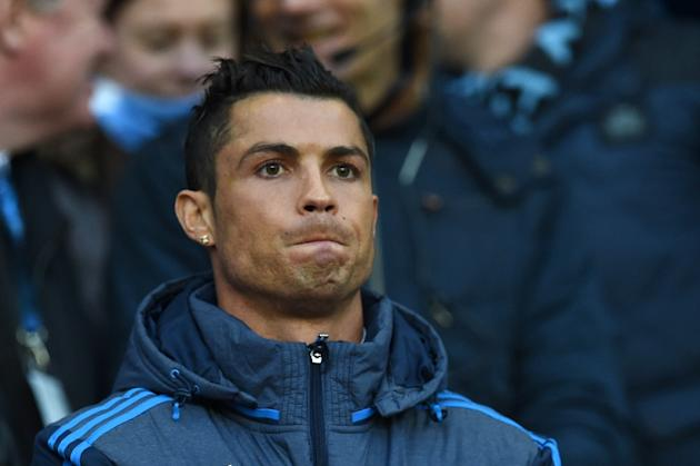Real Madrid's Cristiano Ronaldo pictured during the Champions League semi-final, first leg between Manchester City and Real Madrid at the Etihad Stadium in Manchester, northwest England, on April
