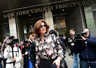 Former supermodel Linda Evangelista, seen here leaving New York Family court, on May 3. Evangelista clashed with Frenchman Francois-Henri Pinault over child support for her son fathered by the Gallic tycoon, one of France's wealthiest men