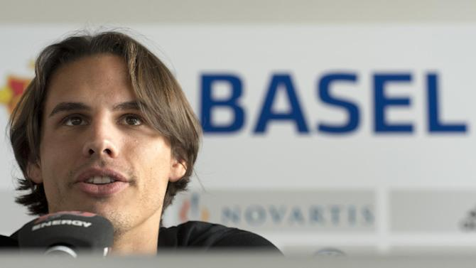 Yann Sommer, keeper of Swiss Soccer Club FC Basel, speaks about his transfer to German Bundesliga Club Borussia Moenchengladbach for the coming season, in Basel, Switzerland,  Tuesday March 11, 2014