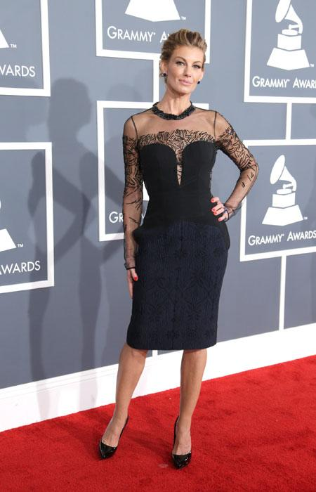 Faith Hill attends the 55th Annual GRAMMY Awards at STAPLES Center on February 10, 2013 in Los Angeles, California. (Photo by Jeff Vespa/WireImage)