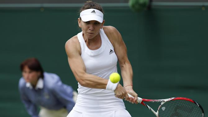 Wimbledon - Halep eases past Diyas to reach quarter-finals