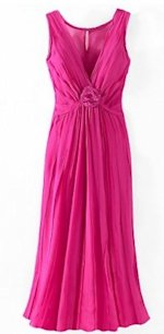 Newport News pink georgette dress, $34.99.
