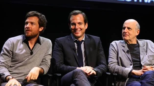 Jason Bateman, Will Arnett and Jeffrey Tambor attend The 2011 New Yorker Festival: 'Arrested Development' Panel at Acura at SIR Stage37 on October 2, 2011 in New York City -- Getty Images