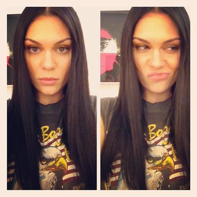Celebrity photos: Jessie J is soon to appear on the cover of ELLE magazine, and she treated her fans to a sneak peek of the shoot. She tweeted this photo of her poker straight hair and makeup along wi