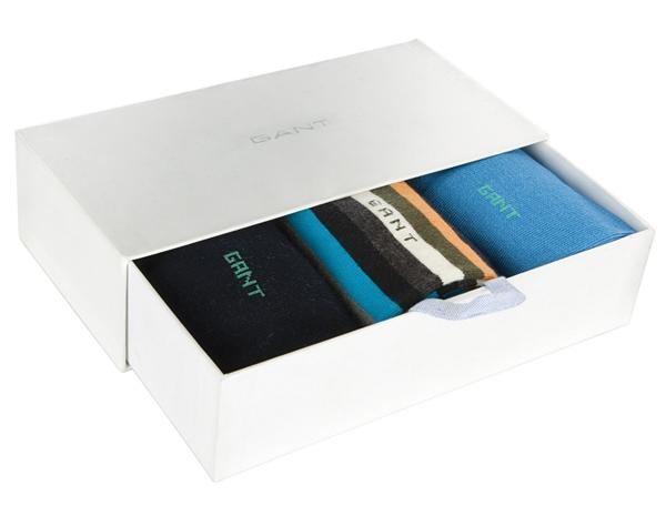 Gant Socks Gift Set, Pack of 3, Blue/Multi, John Lewis, £35.