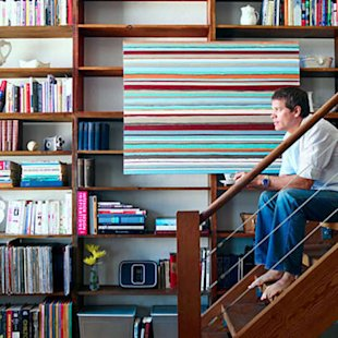 Hang your art on the shelving itself