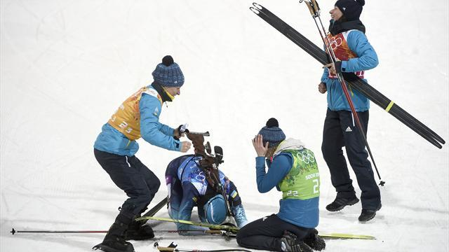 Biathlon - No celebration for Ukraine gold medal, says emotional Bubka