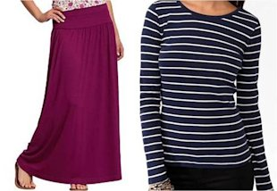 Add a Winter Touch to a Maxi Skirt