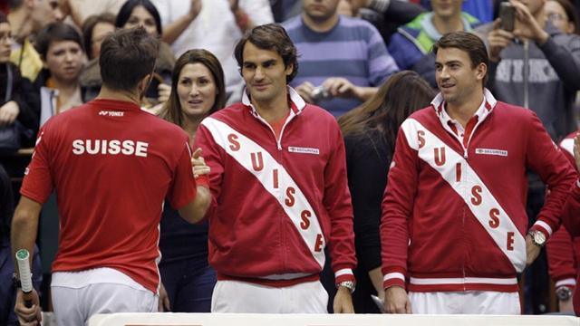 Davis Cup - Swiss lead, Spain trail, Czechs level in Davis Cup