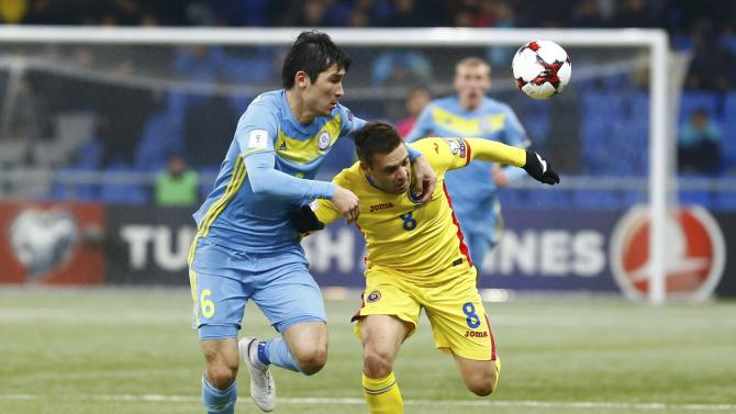 Football Soccer - Kazakhstan v Romania - 2018 World Cup Qualifying European Zone