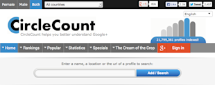 Understand and Monitor your Google+ Followers with CircleCount image CircleCount Start