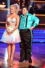 Lacey Schwimmer and Chaz Bono face the judges during Week 5 of 'Dancing with the Stars,' Season 13, Oct. 17, 2011 -- ABC