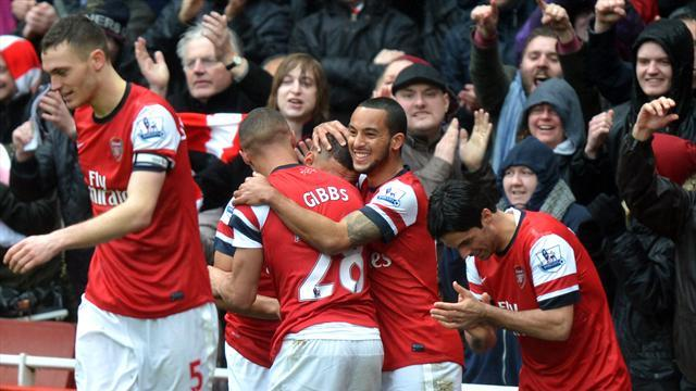 Football - Wenger happy with battling Gunners