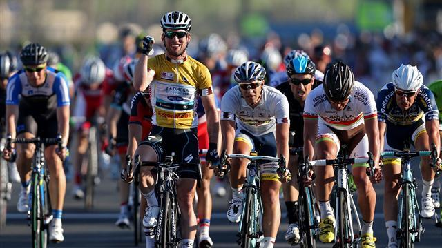 Cycling - Cavendish 'over the moon' after winning in Qatar