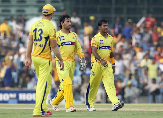 Chennai Super Kings aptain MS Dhoni (C)