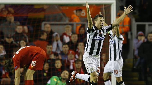 Europa League - Udinese rally stuns Liverpool