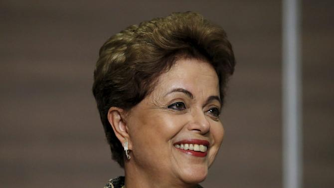 Rousseff smiles during a news conference in Mexico City
