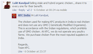 Social Media Strategy Review: Restaurants and Cafes image Customer reply by KFC