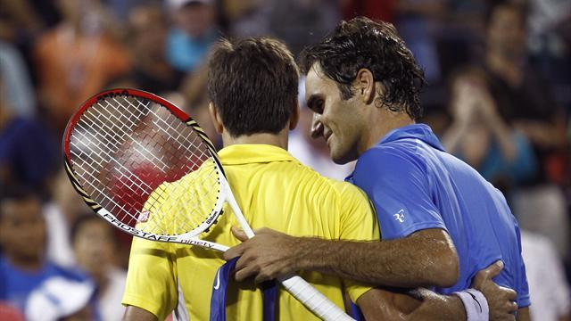 US Open - Robredo sensed an upset against doubtful Federer