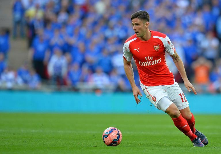 Arsenal striker Olivier Giroud during the FA Cup semi-final against Reading at Wembley stadium on April 18, 2015