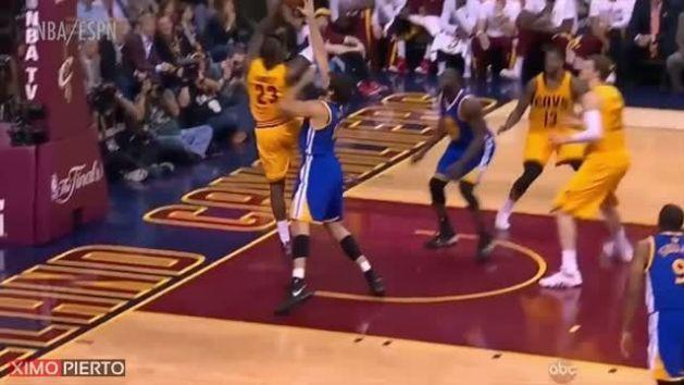 LeBron James Hits His Head HARD on Camera During Game 4 of NBA Finals