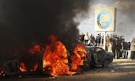 Egyptian Sword Fight Injures Protesters