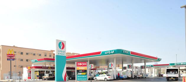 An ENOC petrol station