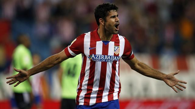 Liga - Atletico Madrid stay perfect, Malaga beat Almeria