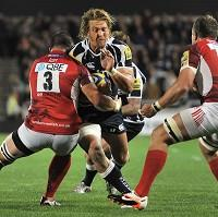 Andy Powell, centre, returned to action for Sale Sharks but he was unable to stop them losing for the fourth time in a row