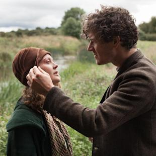 "In this image released by Sony Pictures Classics, Simone Kirby portrays Oonagh, left, and Barry Ward portrays Jimmy in a scene from ""Jimmy's Hall.""(Joss Barratt/Sony Pictures Classics via AP)"