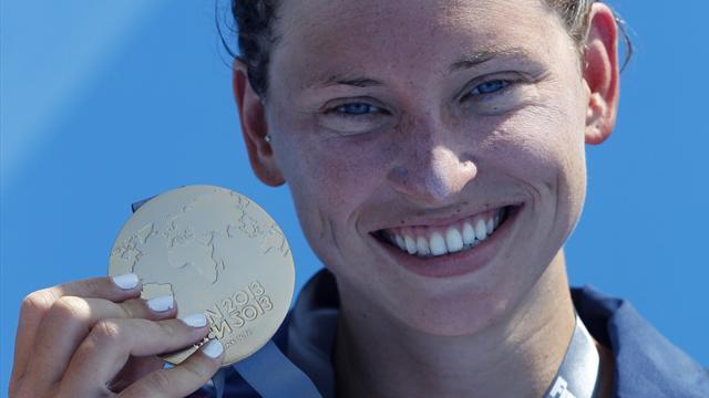 Swimming - Anderson takes 5km gold for USA, Mellouli wins men's race