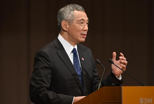 Singapore Prime Minister Lee Hsien Loong delivers a speech during the 20th International Conference on the Future of Asia in Tokyo on May 22, 2014