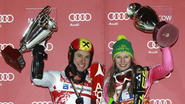 Alpine Skiing - Hirscher, Duerr win Moscow City Event