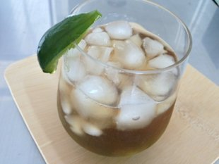 Fig infused cocktail