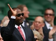 West Indian cricket icon Brian Lara, pictured in 2010, has called upon Shivnarine Chanderpaul, the world's number one batsman, to move up the order for his team's three-Test series with England which begins on Thursday