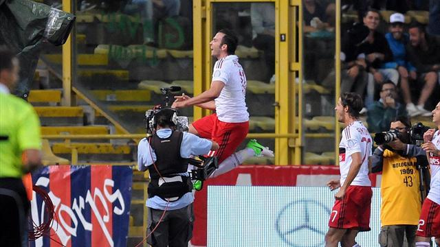 Pazzini fires Milan to victory with treble
